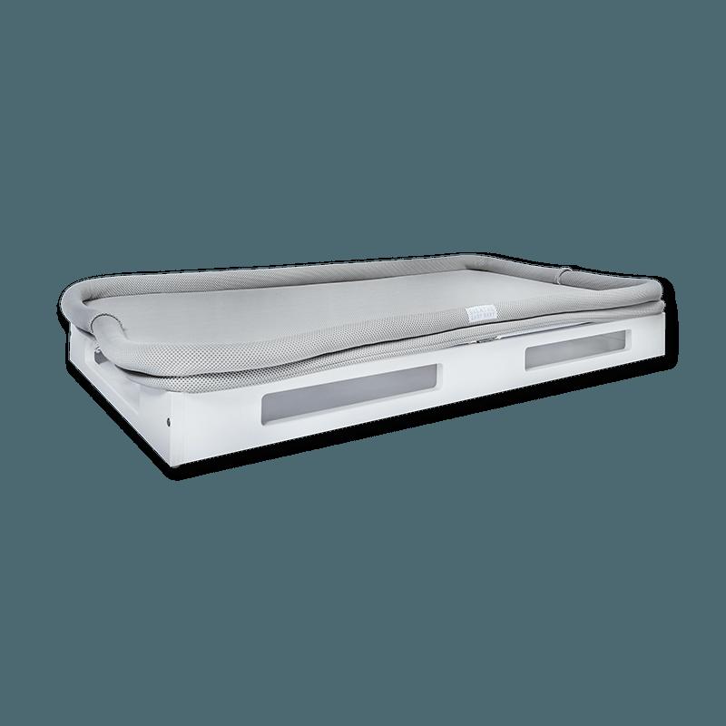 Breathe Easy Baby Sleep System - White Base Grey Surface